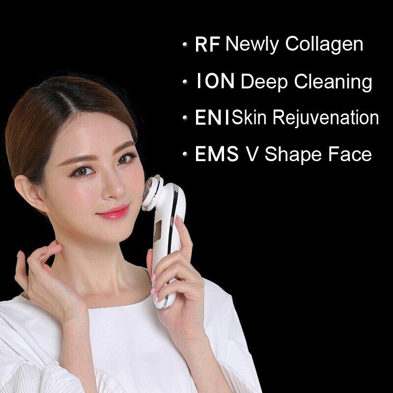 آلة إزالة التجاعيد متعددة الوظائف ، للاستخدام المنزلي ، شد الوجه ، مكافحة الشيخوخة ، تجديد الجلد ، مدلك EMS RF ، جهاز التجميل