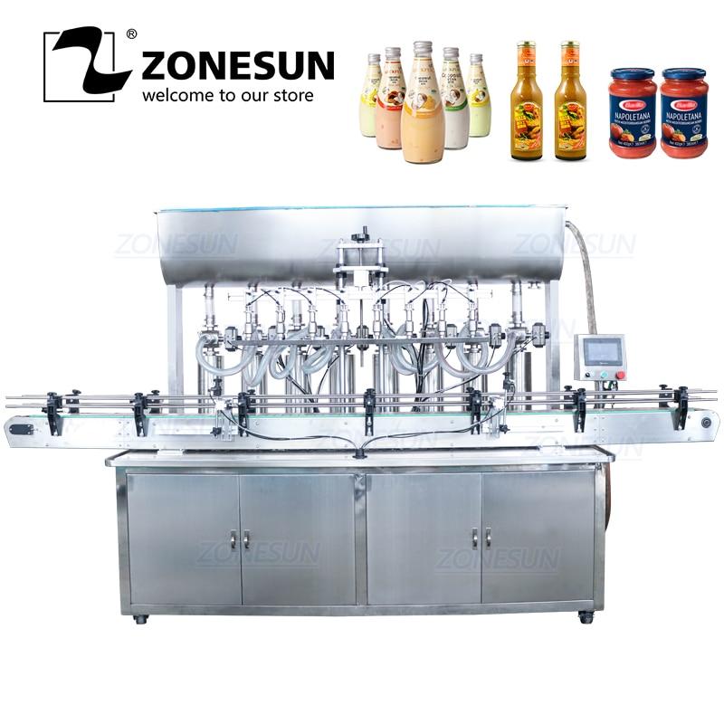 ZONESUN автоматическая машина для наполнения бутылок моющее средство меда