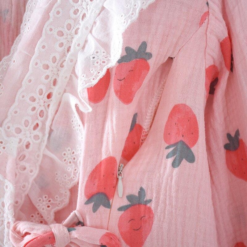 Fdfklak Maternity Spring Clothing Set Pregnant Women Pink/White Breastfeeding Pajamas Suits Cotton Nursing Sleep Two Pieces enlarge