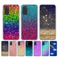 glitter with sparkles bling silicone case for samsung galaxy s30 s21 ultra s20 plus s10 s9 s8 plus s10e note 9 10 pro bags cover
