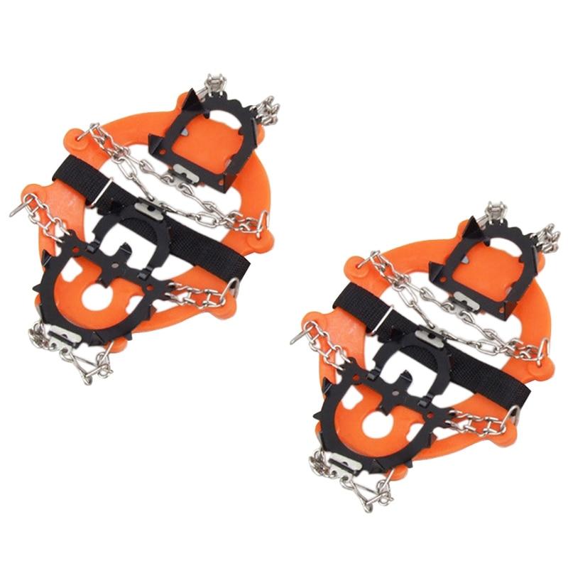 Crampons-حبال مانعة للانزلاق مع 12 سنًا للثلج والجراء ، وأغطية أحذية شتوية مقاومة للانزلاق