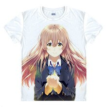 Футболка в стиле аниме «A Silent Voice»; футболка в форме голоса; манга «Koe no Katachi»; Shoya Ishida Nishimiya; красивая футболка для косплея
