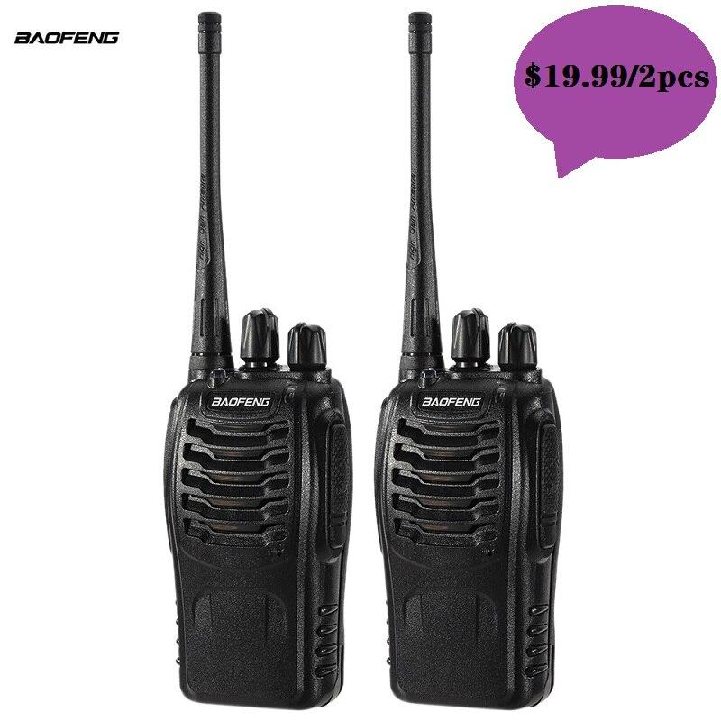 2 шт., портативная рация Baofeng 888 для любительской радиостанции