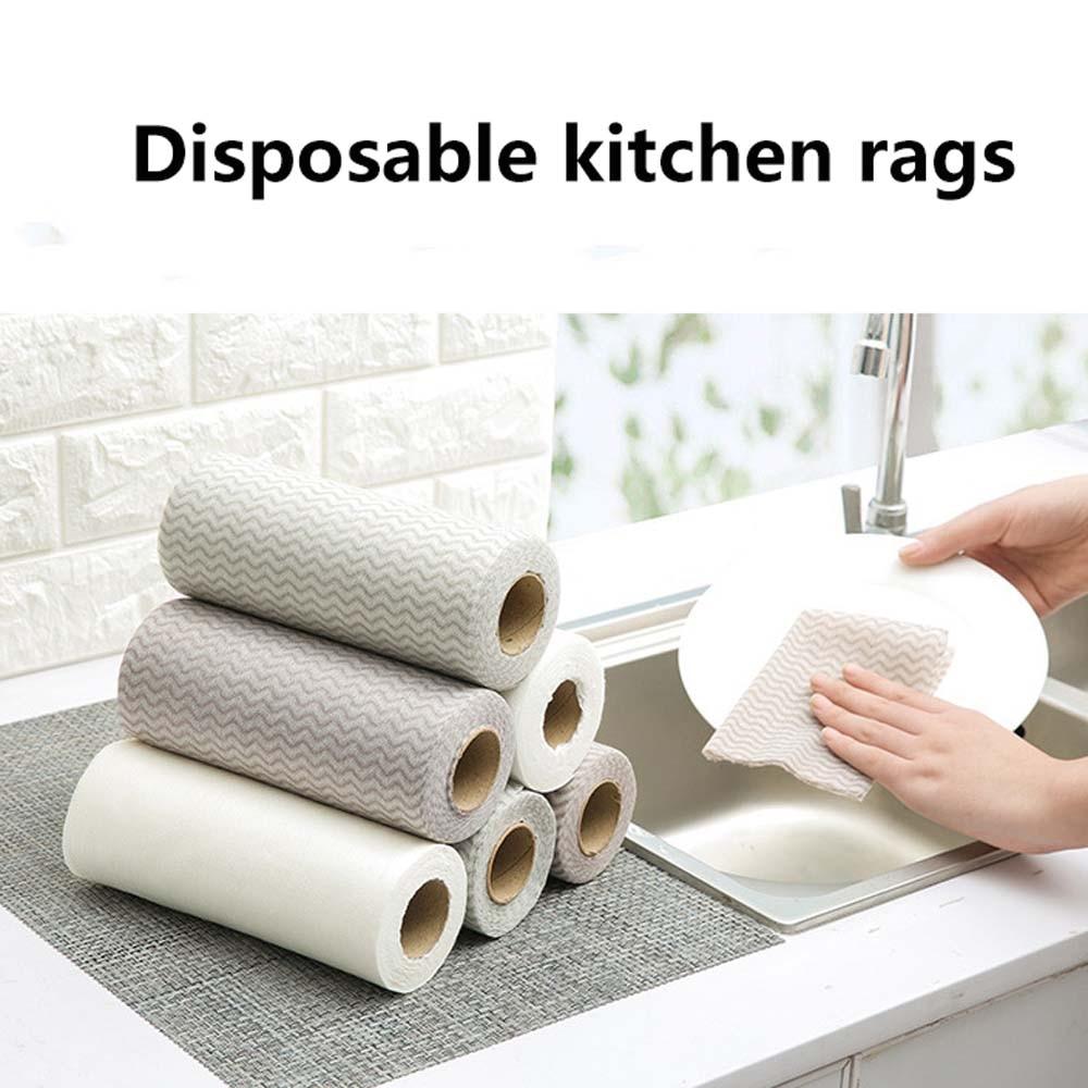 Paño de limpieza de cocina de textil no tejido, trapos desechables, paño de fregado, paño de cocina, paño de lavado de baño, 50 unids/pack