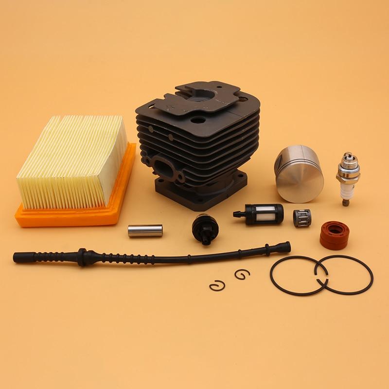 42mm Cylinder Piston Air Fuel Filter Line Oil Seal Spark Plug Kit Fit For Stihl FS450 FS 450 Trimmer Spare Part 4128 020 1211