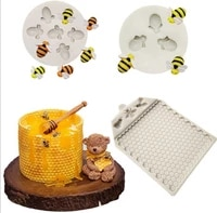 bee nest shape silicone resin mold diy cake pastry fondant moulds dessert chocolate lace decoration kitchen baking tool
