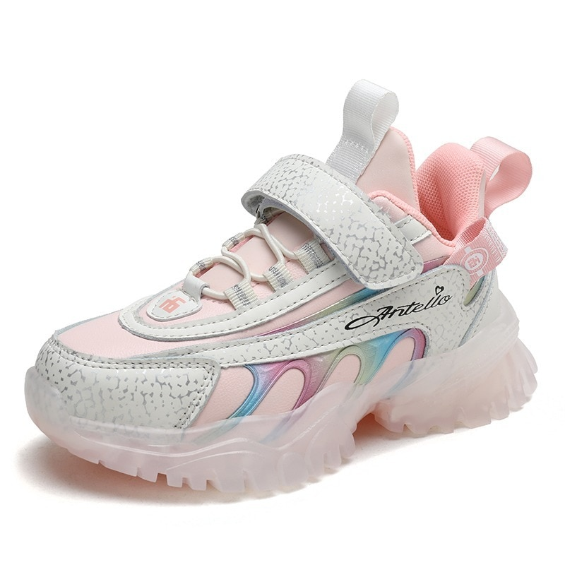 Size 26-37 Kids Girls Sports Sneakers Casual Children Student Anti-Slippery Comfort Outdoor Walking Chaussure Enfant Shoes enlarge