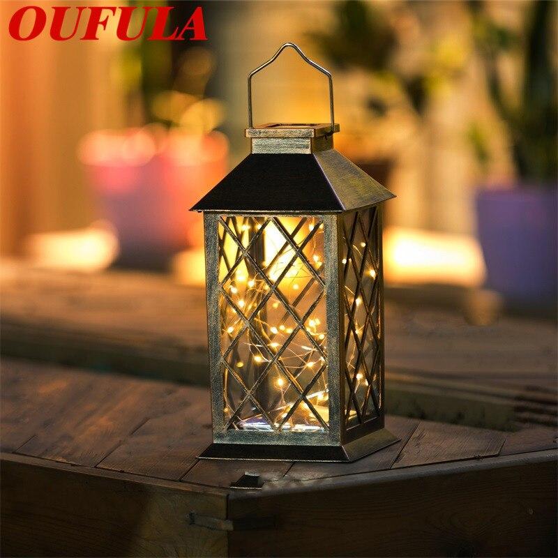 OUFULA New Solar Portable Lantern Led Light Christmas Outdoor Garden Courtyard Palace Lamp Hanging Light