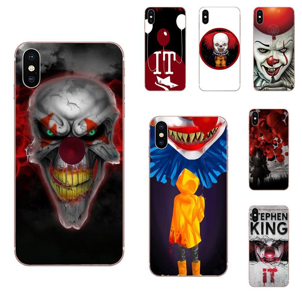 Teléfono Celular TPU para Huawei Honor 4C 5A 5C 5X 6 6A 6X 7 7A 7C 7X 8 8C 8 9 10 10i 20 20i Lite Pro payaso Horror máscara