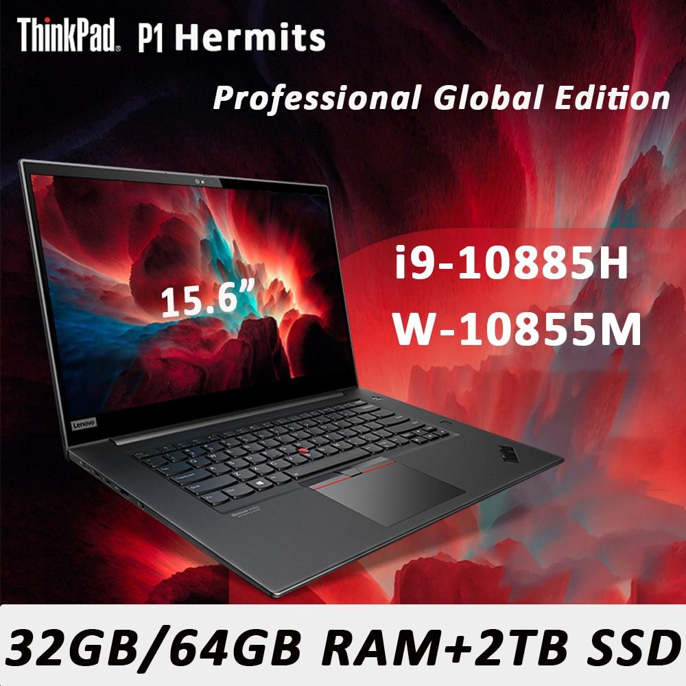 Lenovo ThinkPad P1 Hermit laptop Win10 Professional  i9/Xeon W-10855M 32G 64G RAM 2TB SSD 4K OLED Backlit WiFi6 Ultraslim Touch
