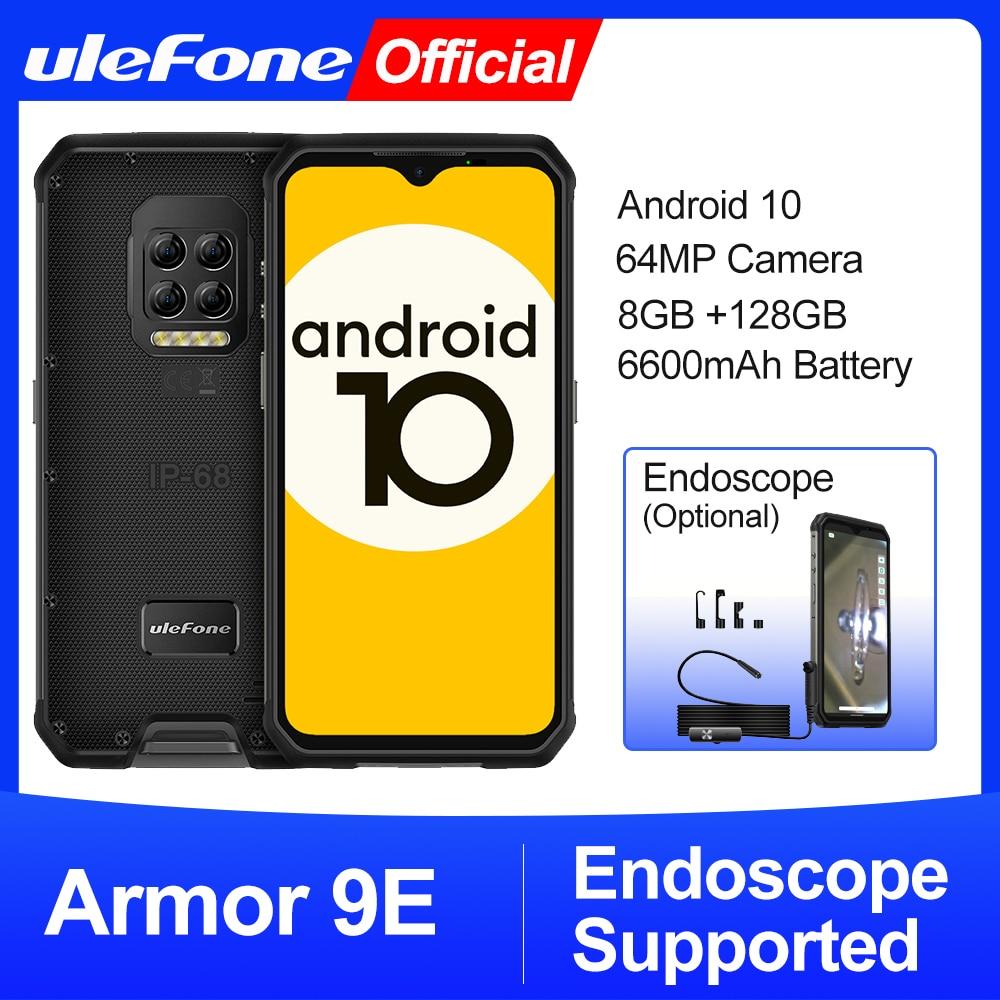 Ulefone درع 9E أندرويد 10 جوّال المهامّ الوعرة هيليو P90 ثماني النواة 8GB + 128GB 2.4G + 5G واي فاي موبيلين 6600mAh 64MP كاميرا NFC الهاتف الذكي