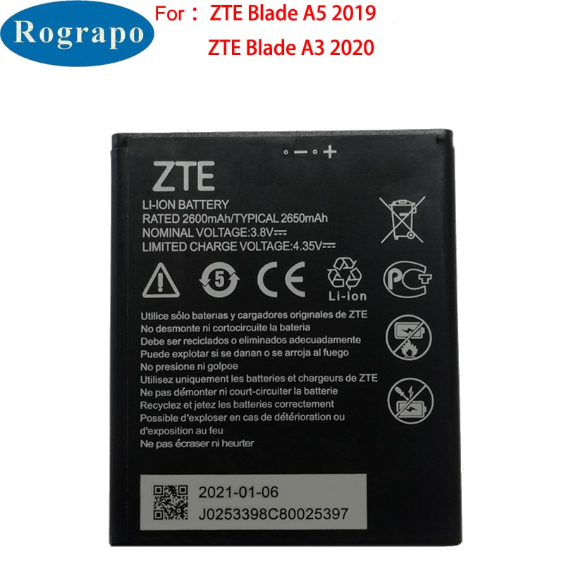 New Original 2650mAh Li3826T43P4h695950 Replacement Mobile Phone Battery For ZTE Blade A5 2019 / A3