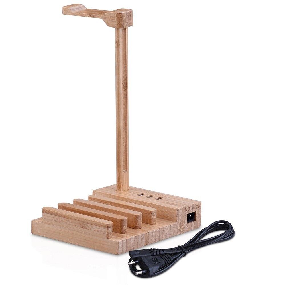 Fone de Ouvido de madeira Stand Universal Fone de ouvido de Carregamento Cabide Suporte