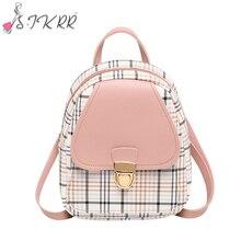 S.IKRR-Mini sac à dos à carreaux coréen pour femmes, petits sacs à bandoulière pour adolescentes, petits sacs de voyage pour filles, 2020
