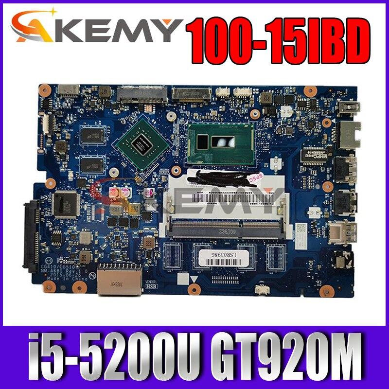 لينوفو ينوفو 100-15IBD B50-50 100-14IBD CG410 CG510 NM-A681 اللوحة i5-5200U GT920M/2GB