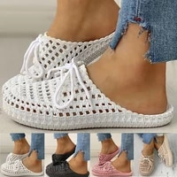 new womens openwork slippers non slip deodorant breathable flat sandals home indoor lazy student slippers gladiator sandals