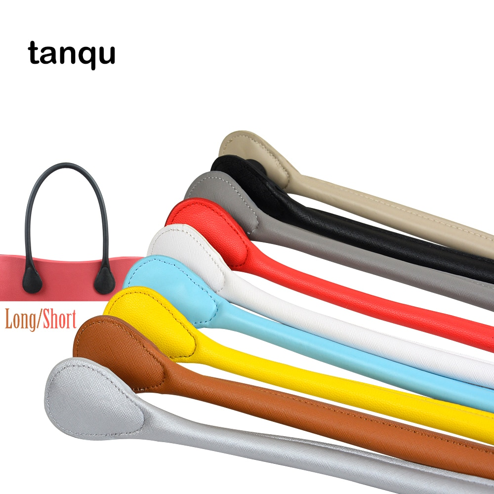TANQU New Short Long PU Faux Leather Handle for Obag Soft Colourful Handle for Mini Classic O Bag Wo