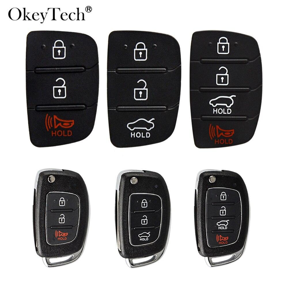 Сменные кнопки OkeyTech 3/4, пульт дистанционного управления для автомобильных ключей, ремонт корпуса для Mistra Hyundai HB20 SANTA FE IX35 IX45, чехол для ключей