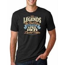 Mannen Legends Zijn Geboren In April 1971 Tshirt T-shirt Aanpassen Korte Mouw Euro Size S-3xl Leisure Fitness Nieuwe fashion Shirt