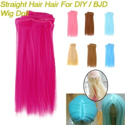 1pc moda brinquedos de pelúcia boneca cabelo moda 15x106cm atacado cabelo reto para diy/bjd peruca boneca brinquedos para crianças 2020