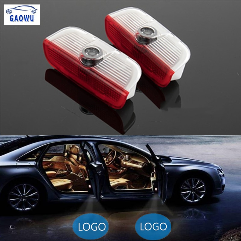 2 шт. автомобильный светильник с логотипом светодиодный светильник для двери лазерный проектор светильник s сигнальная лампа подходит для vw...