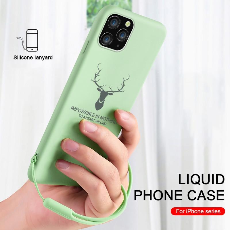 Color Caramelo Suave de silicona caso para iphone x xr xs 11 pro max cubierta de la caja del teléfono para aifon 6 7 8 plus x r s max couqe funda