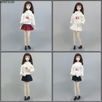 4setslot red super white top hoodie sweatshirt pleated skirt clothes set for barbie doll outfits 16 dolls accessories toys