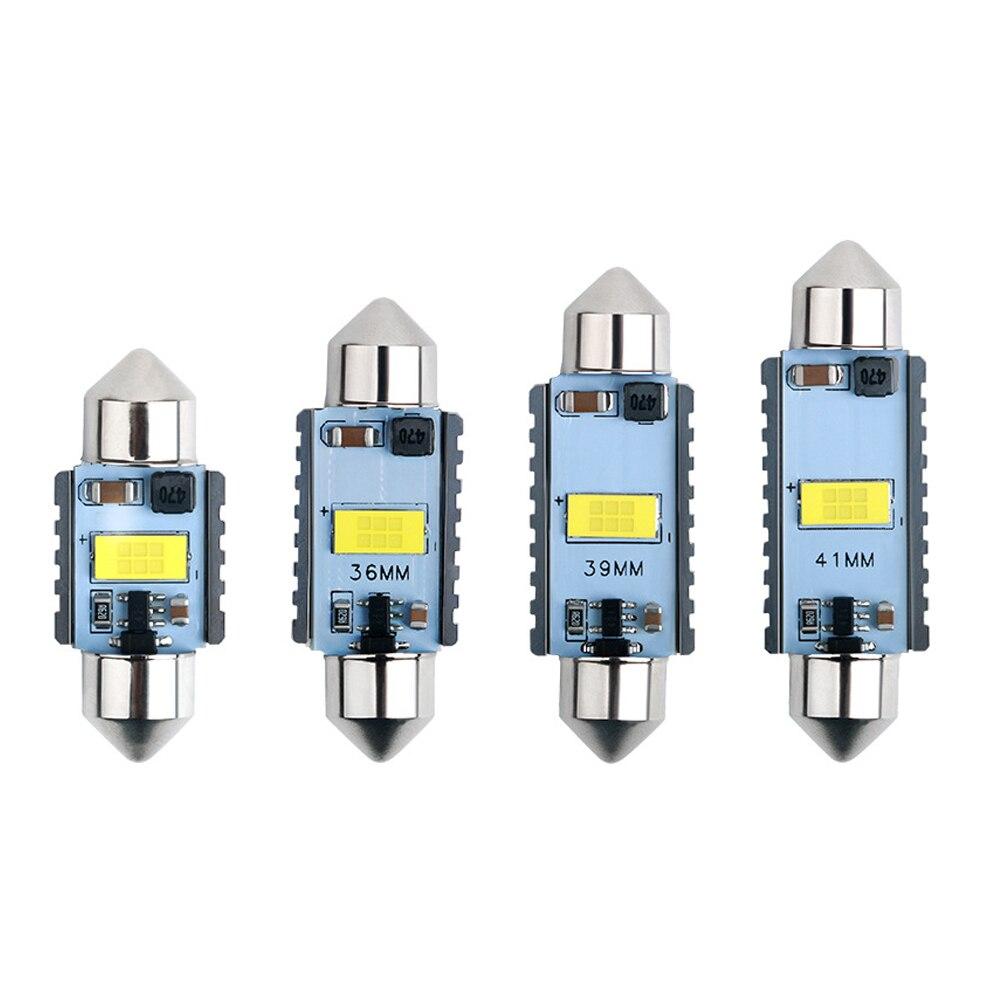 2x C10W C5W светодиодный 3570 1CSP гирлянда 31 мм 36 мм/39 мм/41 мм 12V 24V белые лампы для автомобилей номерного знака интерьер чтение светильник 6500K