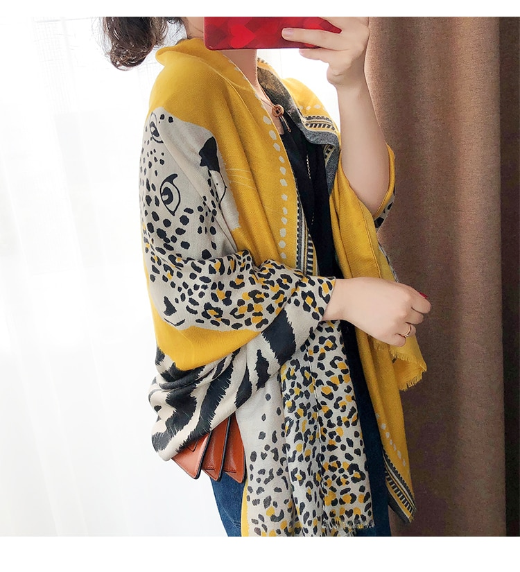 Accesorios mujer chique verde azul cinza leopardo cachecol moda outono longo leopardo padrão cachecol sjaal muçulmano hijab snood