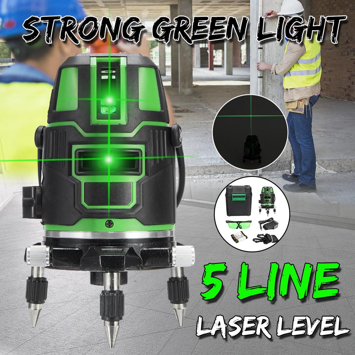 Мощный лазерный уровень ZEAST с зеленсветильник Том 5 линий автоматический