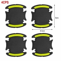 4pcs car door bowl sticker warning reflective tape auto reflective strips driving safety mark car styling accessories