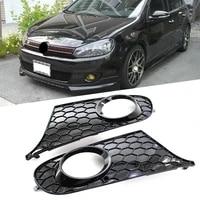 2x auto honeycomb front bumper fog light lmap cover for vw golf 6 for volkswagen golf mk6 non gti 2009 2010 2011 2012 2013