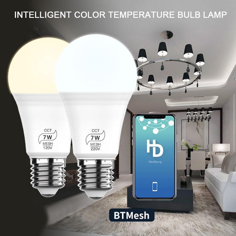 Led-lampe Lampen Bluetooth fernbedienung B22 E26 E27 110V 240V Glühbirne Echt Power 7W Lampada wohnzimmer Home LED Bombilla