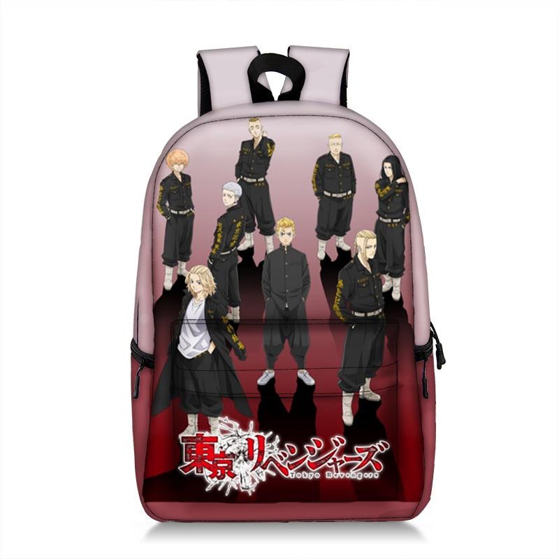 17 Inch Anime Tokyo Revengers Backpack for Teenager Women Men Laptop Mochila Student School Backpack