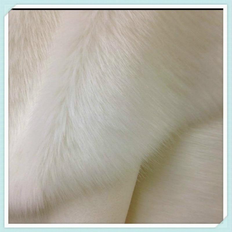 الأبيض الثعلب الفراء النسيج أفخم التقليد للخياطة عداد عرض المجوهرات خلفية التصوير الدعائم 50x180cm