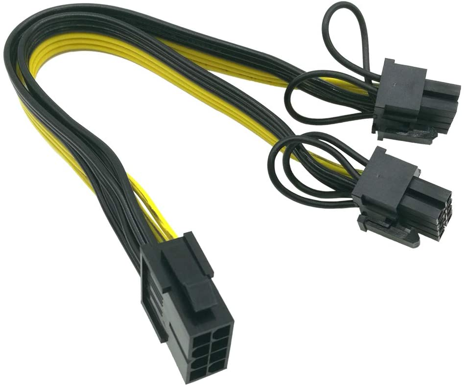 pci e 6 pin female to dual 2 port 8 pin 6 2 pin male gpu video card power adapter cable for graphics card 8 Pin to dual 8 (6+2) Pin PCI Express Power Converter Cable for Graphics GPU Video Card PCIE PCI-E VGA Splitter Hub Power Cable