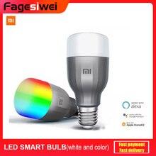 Xiaomi mi led lâmpada inteligente cor e branco mjdp02yl app wifi controle de voz 10 w 800lm 1700-6500 k temperatura de cor lâmpada