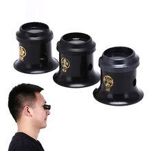 Loupe Lens BlackJeweler Tool Eye Magnifier Watch 3X 4X 5X Monocular Glass Magnifier Watch Jewelry Re