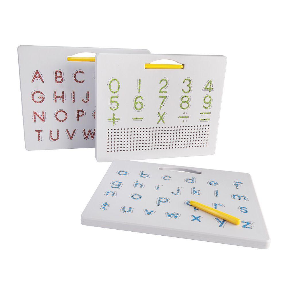 Pizarra de dibujo magnética 2 en 1, letras del alfabeto, tablero de...