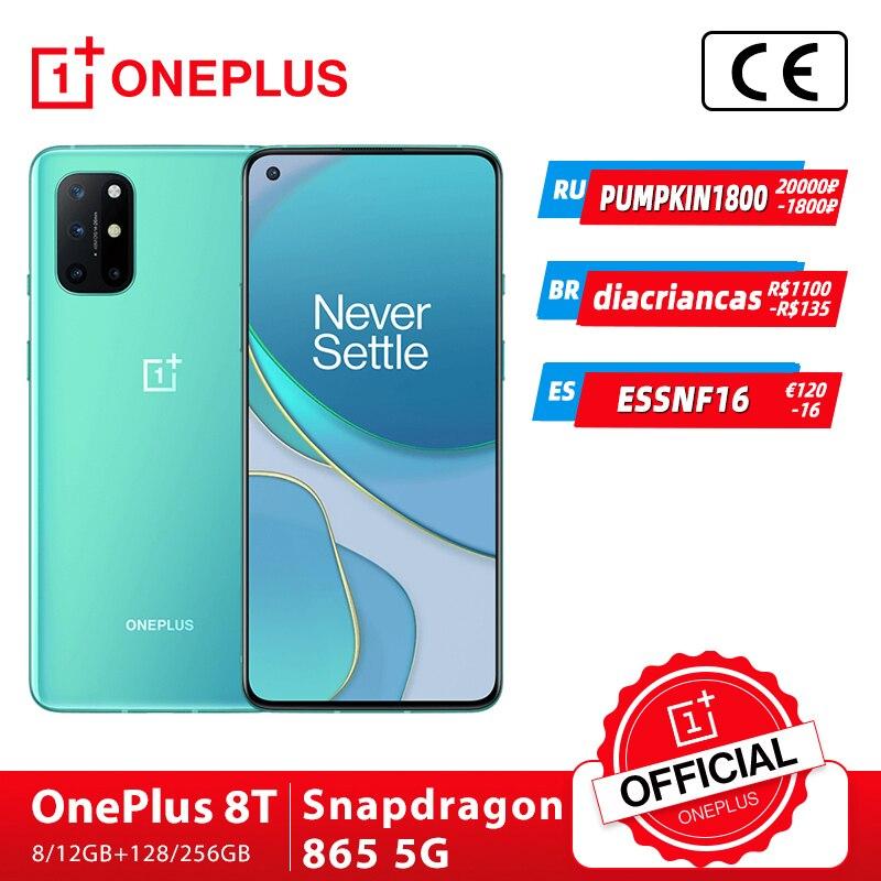 Смартфон OnePlus 8T OnePlus Официальный магазин 8 Гб 128 ГБ Snapdragon 865 телефон 120 Гц