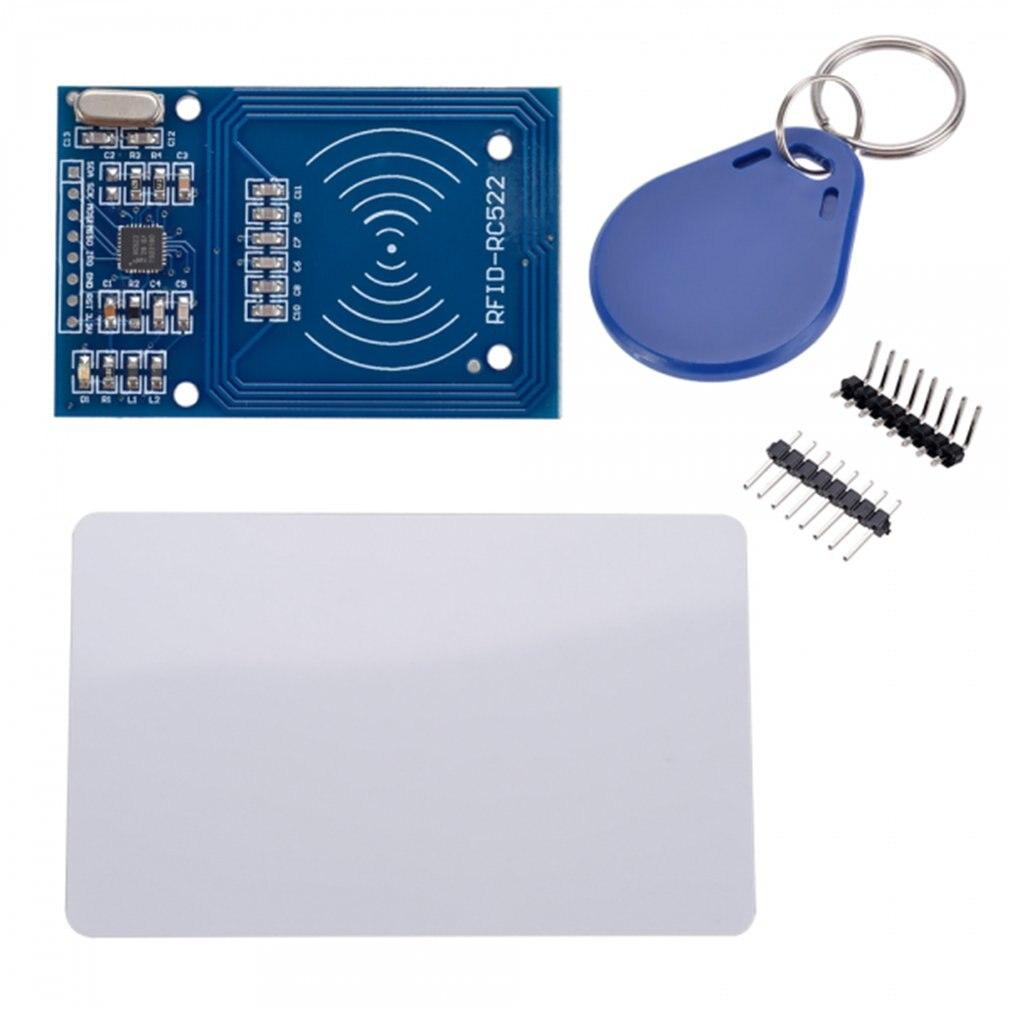 Antena de lectura de tarjeta RC522, 1 Uds., módulo de proximidad de tarjeta RF RFID MFRC-522 + Mini tarjeta Clave de alto rendimiento