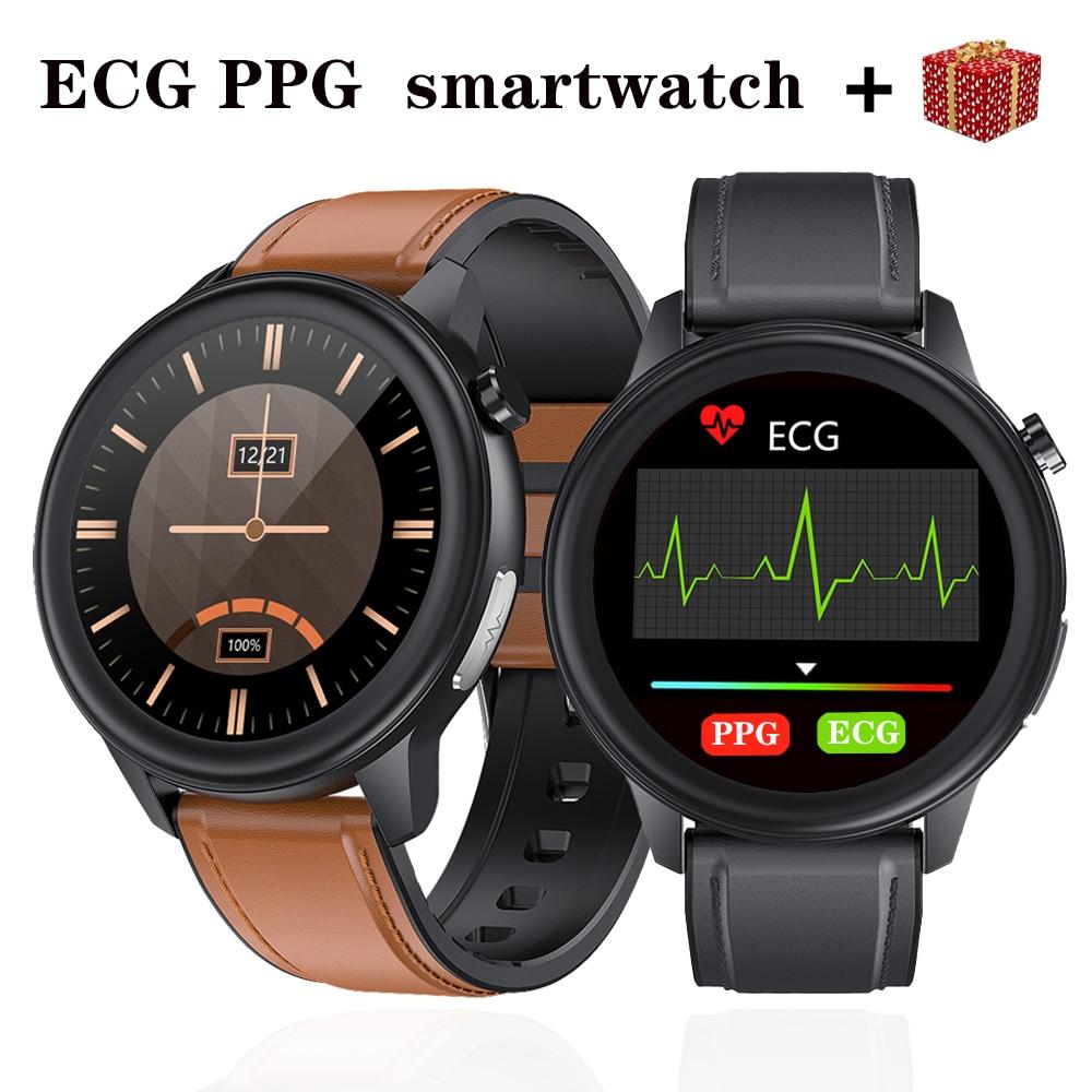 ساعة رياضية متصلة ECG PPG ، لهواتف Android و IOS ، مع مراقبة معدل ضربات القلب وضغط الدم ، للرجال والنساء