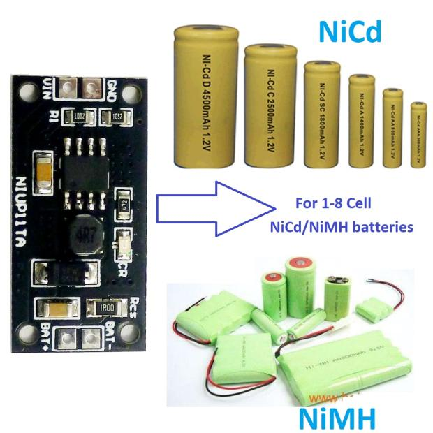 1S - 8S celular NiMH NiCd cargador de batería dedicado Módulo de carga de 2S 3S 4S 5S S 6S 7S 1,2 V 2,4 V 3,6 V 4,8 V 6V 7,2 V 8,4 V 9,6 V