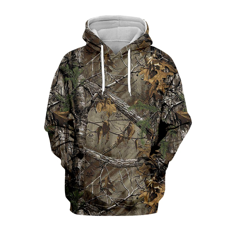 Men's Sweatshirt Spring And Autumn Maple Leaves Camouflage 3D Print Hoodies Slim Personality Oversized Hoodie Men's Clothes Tops