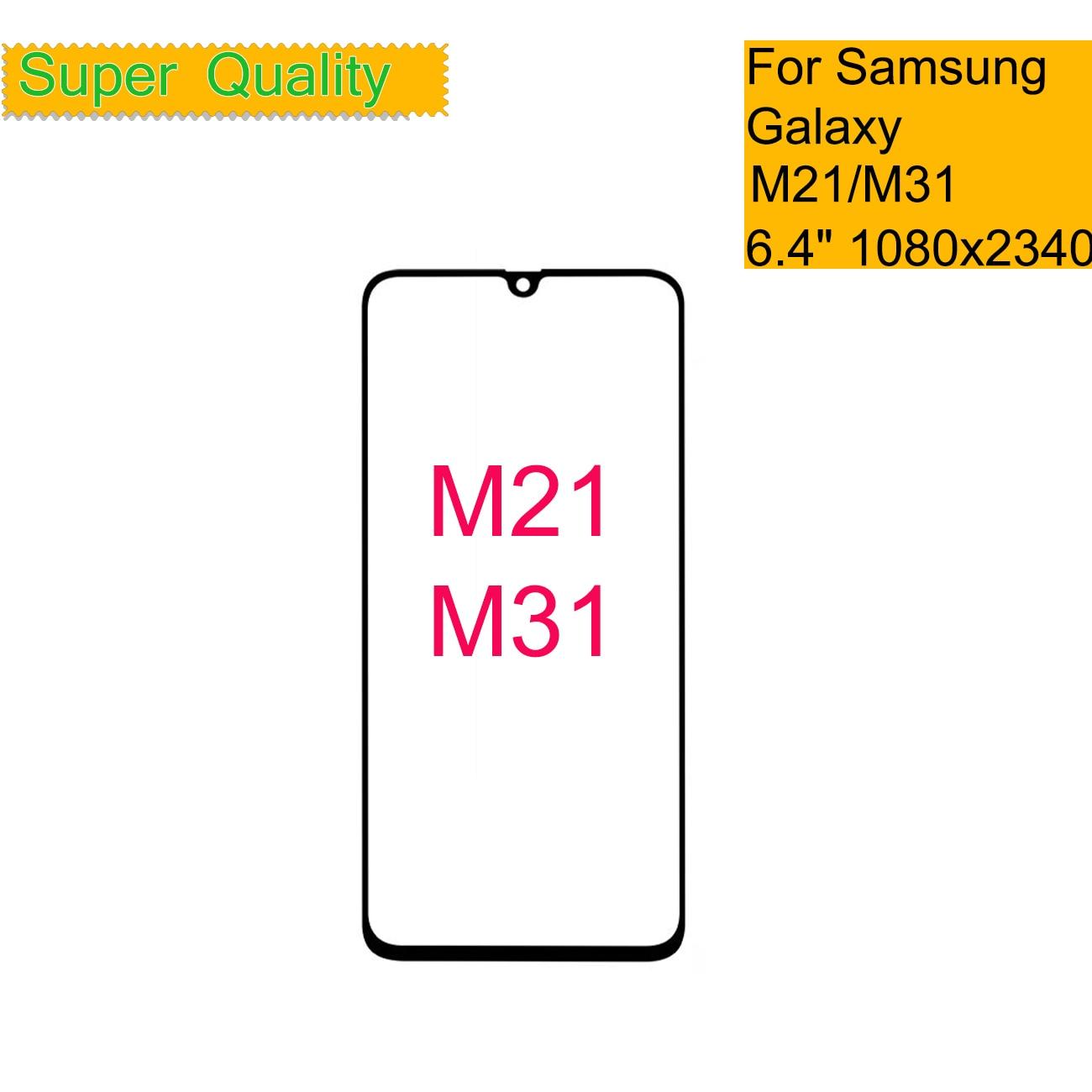 10 Pçs/lote Para Samsung Galaxy M21 M215 / M31 M315 Frontal Da Tela de Toque Do Painel de Vidro LCD Lens Outer M21 M31 substituição do Vidro da frente