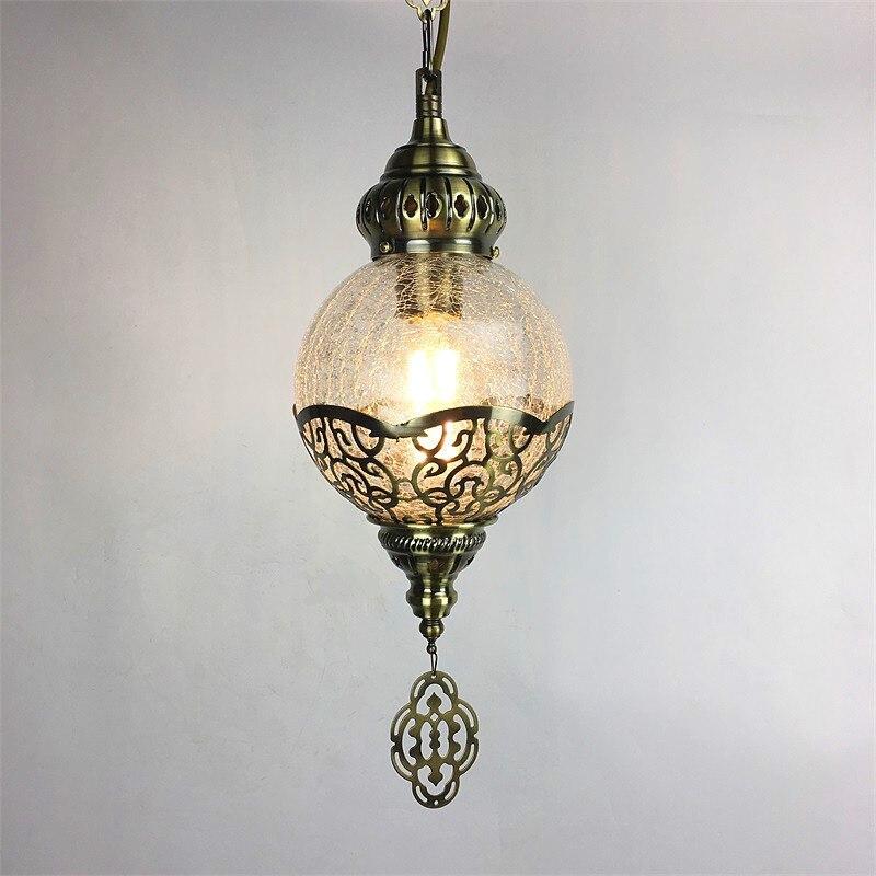 Lámpara colgante de árbol o cafetería romántica hecha a mano con motivos étnicos de Turquía, lámpara colgante con mosaico decorativo