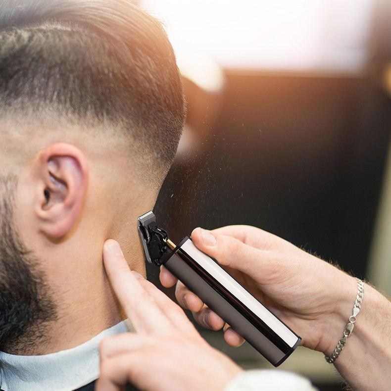 Professional T Hair Clipper Barber Hair Cutting USB Rechargeable Beard Trimmer Edge...