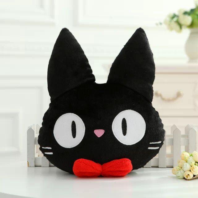 Servicio de entrega de Kiki muñeca de felpa gato negro JiJi PP almohada de felpa de algodón peluches Peluches Juguetes de Peluche 35CM * 27CM