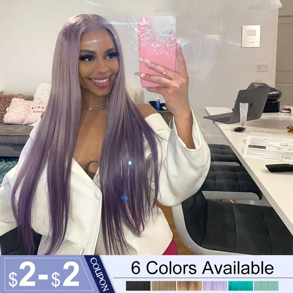 Bella Synthetic Lace Front Wig 30inch Long Straight Hair Pink Black Purple Mint Blonde Light Color W