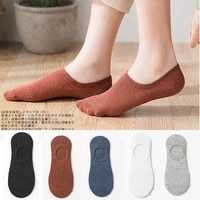 summer invisible boat socks women anti slip silicone no show socks cotton comfortable shoe liner socks slippers chausette femme